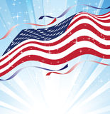 Day of independence. Flag flying to the sky Royalty Free Stock Image