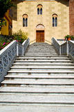 Day italy church tradate  varese  door entrance and windows Royalty Free Stock Photo