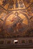 Day of Judgement Byzantine Mosaic - Florence Baptistery Cupola Royalty Free Stock Photos