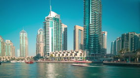 Day 4k time lapse from dubai marina area stock video