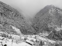 Winter at Annapurna South, Breathtaking view from Kalpana royalty free stock image