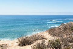 A Day in Laguna Beach, California. Laguna Beach, California, United States of America, a beautiful view of it beaches royalty free stock photos