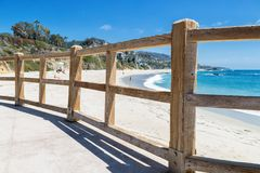 A Day in Laguna Beach, California. Laguna Beach, California, United States of America, a beautiful view of it beaches stock photo