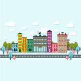 Day light city scape. Design vector illustration Royalty Free Stock Images