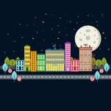 Day light city scape. Design vector illustration Stock Images