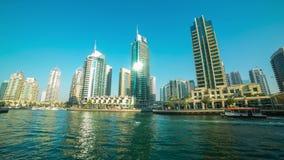 Day light  4k time lapse from dubai dock Royalty Free Stock Photos