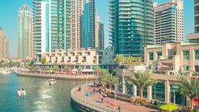 Day light 4k time lapse from dubai marina Royalty Free Stock Image