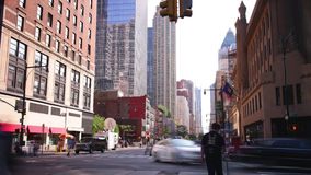 Day light manhattan crossroad 4k time lapse from new york stock footage