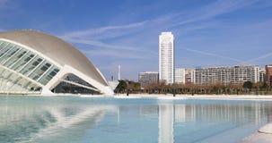 Day light valencia city of art blue sky 4k spain stock video footage