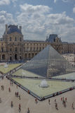 A Day at Louvre Museum Royalty Free Stock Photos