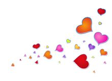 Day in love, hearts,. Different colors, sacred Valentine, a symbol, a holiday Stock Illustration
