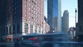 Day manhattan crossroad traffic 4k time lapse from new york stock footage