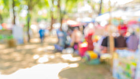 day market blur background with bokeh image. Royalty Free Stock Photography