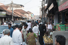 Day market in Kannur. Life time in Kannur, Kerala, India, South Asia Royalty Free Stock Photos