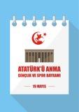 Day of memory of Mustafa Kemal Stock Photography