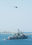 Day military marine sea fleet of Russia Royalty Free Stock Images