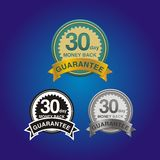30 day money back guarantee. Badges, suitable for online shop decorations and user interface Royalty Free Illustration