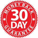 30 day money back guarantee red sign, vector illustration. 30 day money back guarantee red sign, vector stock illustration