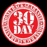 30 day money back guarantee rubber stamp. Illustration vector illustration