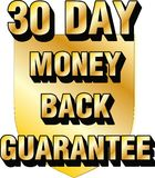 30 day money back guarantee shield website blog ecommerce trust icon thirty Royalty Free Stock Photo
