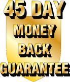 45 day money back guarantee shield website blog ecommerce trust icon thirty. 45 day money back guarantee trust icon good for any website or blog.  Where you are Royalty Free Stock Image