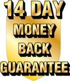 15 day money back guarantee shield website blog ecommerce trust icon thirty Stock Image