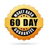 60 day money back guarantee vector icon. Isolated on white background Royalty Free Stock Photography