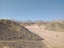 Day in the mountain desert. Egypt royalty free stock photos