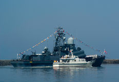 Day of the Navy. Baltiysk Army base in Russia-Day of the Navy stock photos