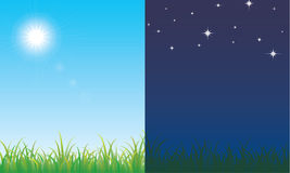 Day and night Royalty Free Stock Photo