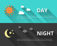 Day and night banners Stock Image