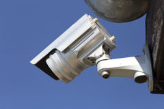 Day & Night Color IP surveillance camera in a hotel Stock Photography