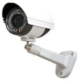Day & Night Color IP surveillance camera. Isolated on white background with clipping path Royalty Free Stock Photos