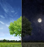 Day and night concept stock photography