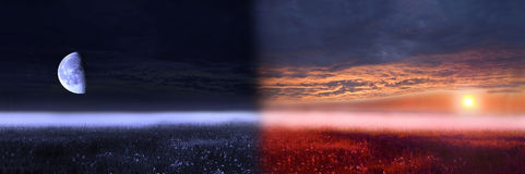 Day and night conceptual image. Stock Images