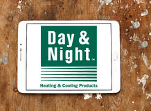 Day & Night heating and cooling systems company logo Royalty Free Stock Photos