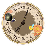 Day and night inside clock Stock Images