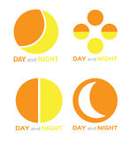 Day and night logo Stock Photos