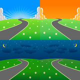 Day and night scene set Royalty Free Stock Photography