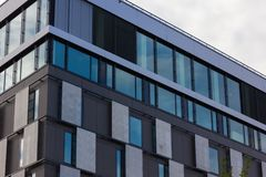 Day and night series of office facades Stock Image