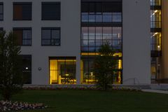 Day and night series of office facades Royalty Free Stock Photos