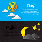 Day and night with sun Royalty Free Stock Photography