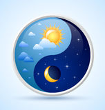 Day and night symbol Royalty Free Stock Photos