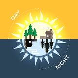 Day and night stock illustration