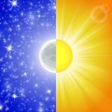 Day and night. Vector illustration Royalty Free Stock Images