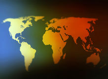 Day and night world map selective focus Royalty Free Stock Photo