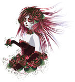 Day Of Dead Girl Royalty Free Stock Photography