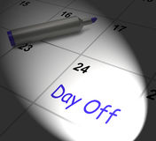 Day Off Calendar Displays Work Leave And Holiday. Day Off Calendar Displaying Work Leave And Holiday Royalty Free Stock Images