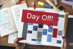 Day Off Holiday Vacation Relaxation Getaway Concept.  Royalty Free Stock Images