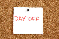 Day off reminder Stock Photo